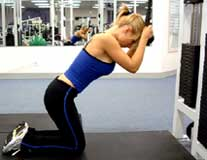 Photo of woman using cable - abdominals exercise