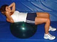 Image of best abs exercises man swiss ball