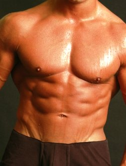 why do people sweat, body sweating benefits picture of man with muscles dripping with sweat