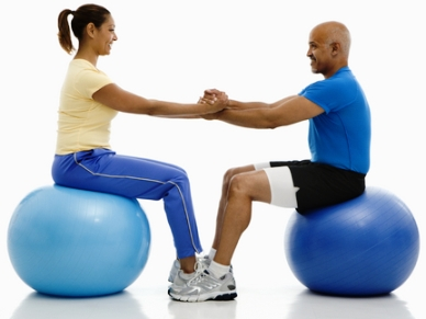 buy fitness ball photo showing abdominals exercise